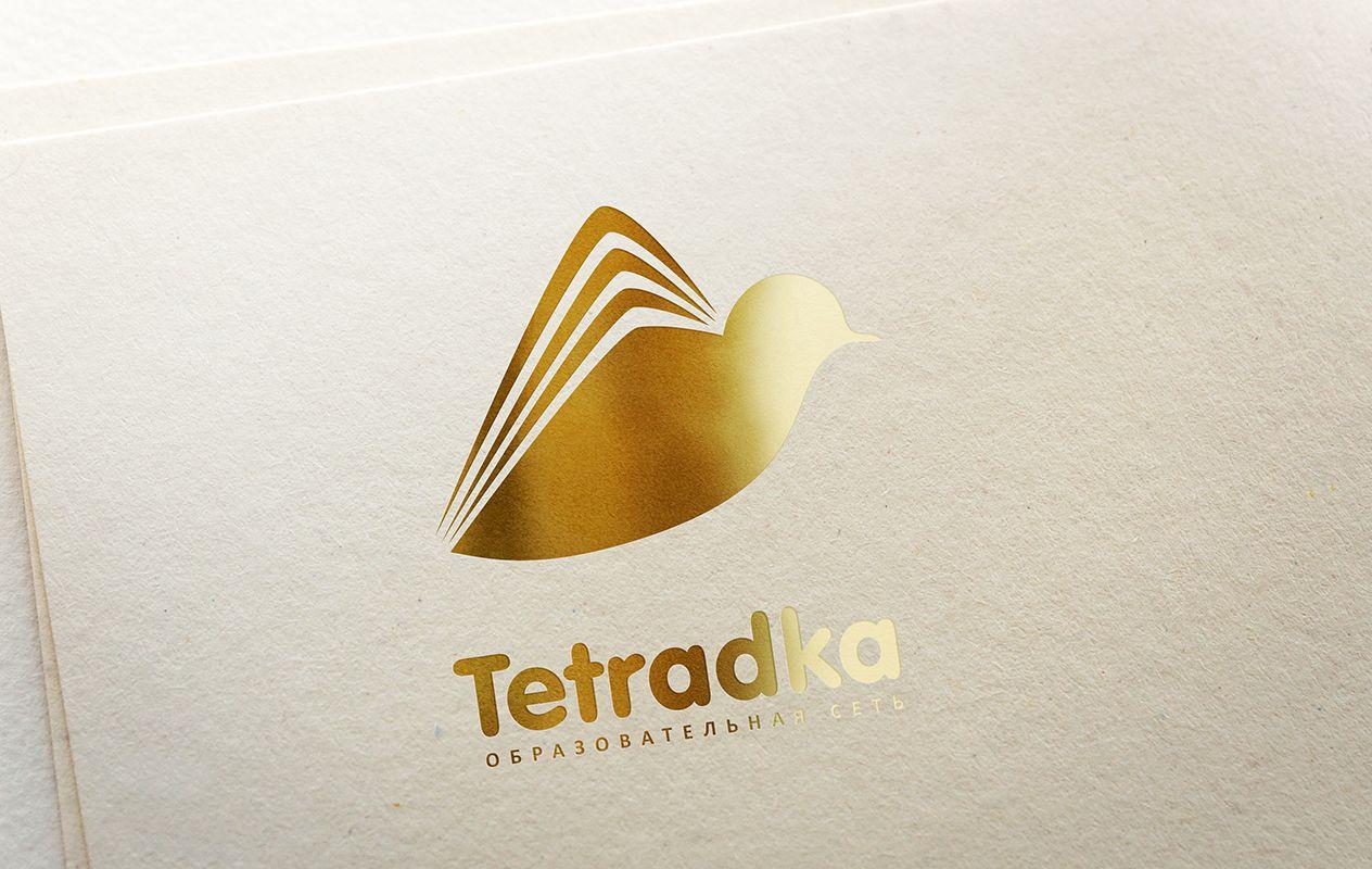 Логотип для образовательной сети tetradka.ru - дизайнер U7ART
