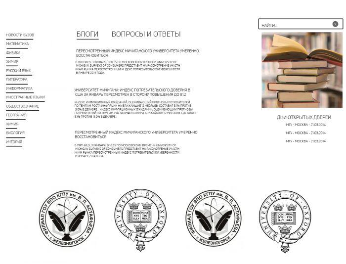 Дизайн для информационного сайта - дизайнер zet333