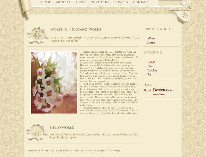 Дизайн для блога - дизайнер aix23