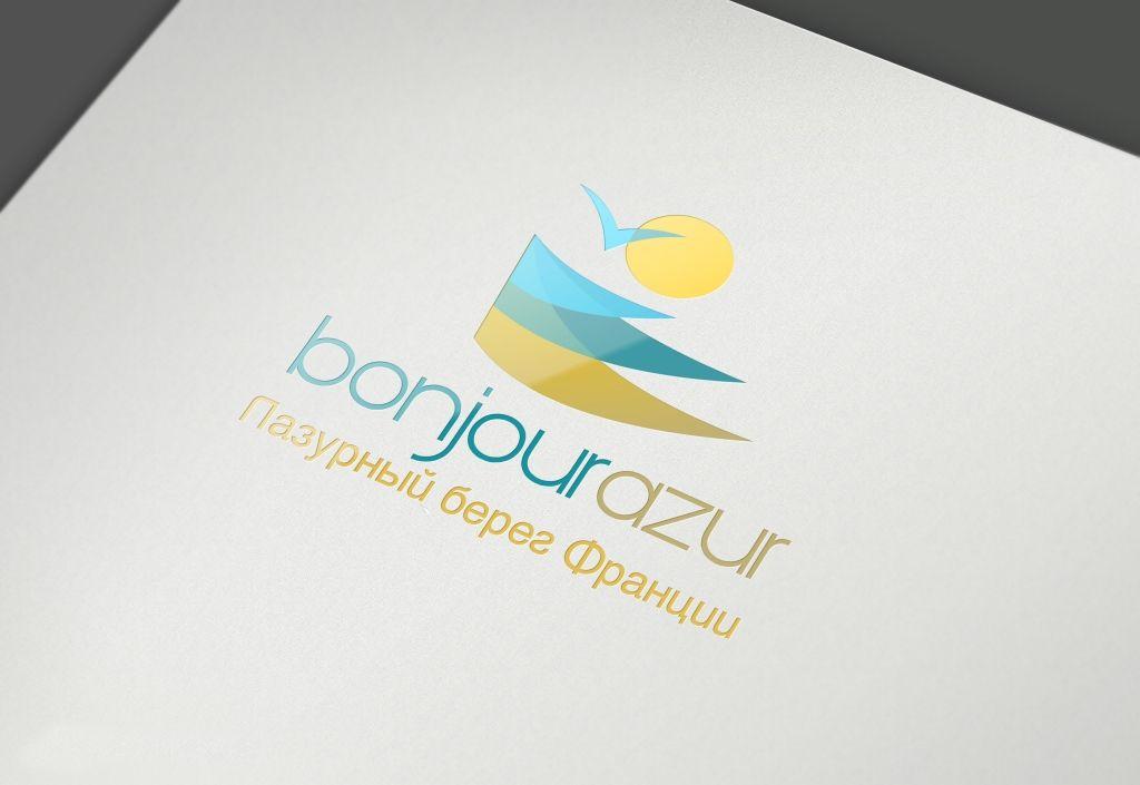 Bonjourazur разработка логотипа портала - дизайнер Keroberas