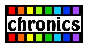 Логотип сервиса Chronics - дизайнер rich