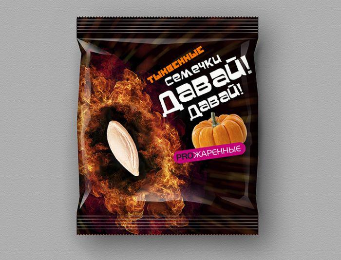 Упаковка тыквенных семечек жареных - дизайнер Sitalov