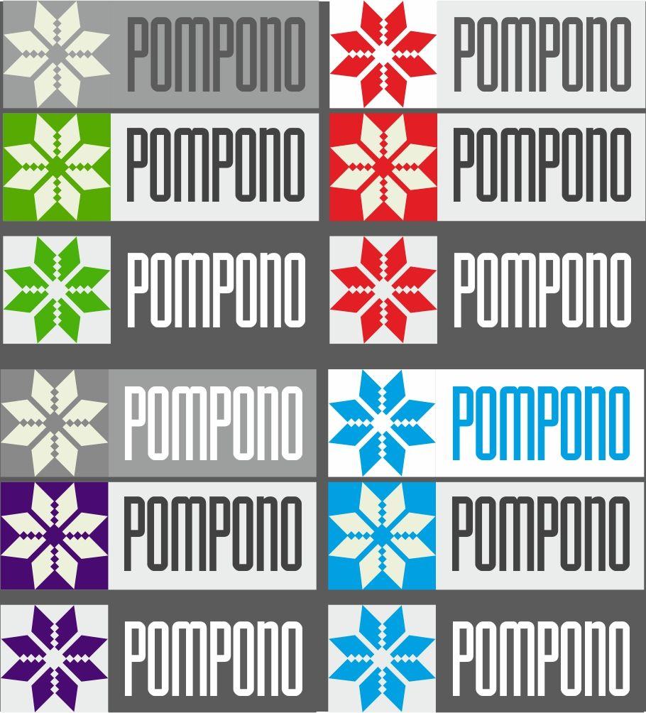 Логотип для шапок Pompono - дизайнер Cherrytwist