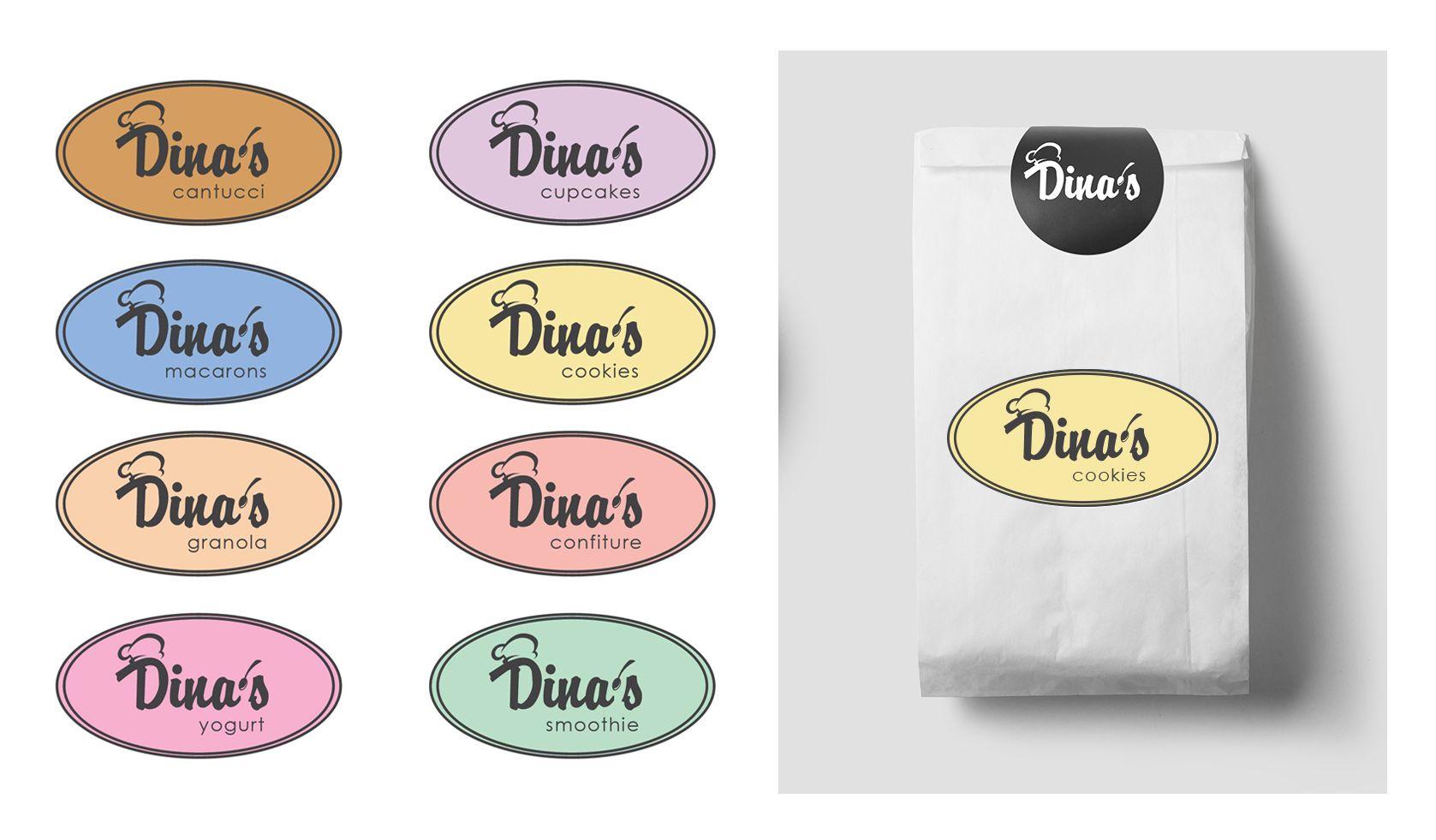 Лого для кондитерских изделий DINA's - дизайнер valeriana_88