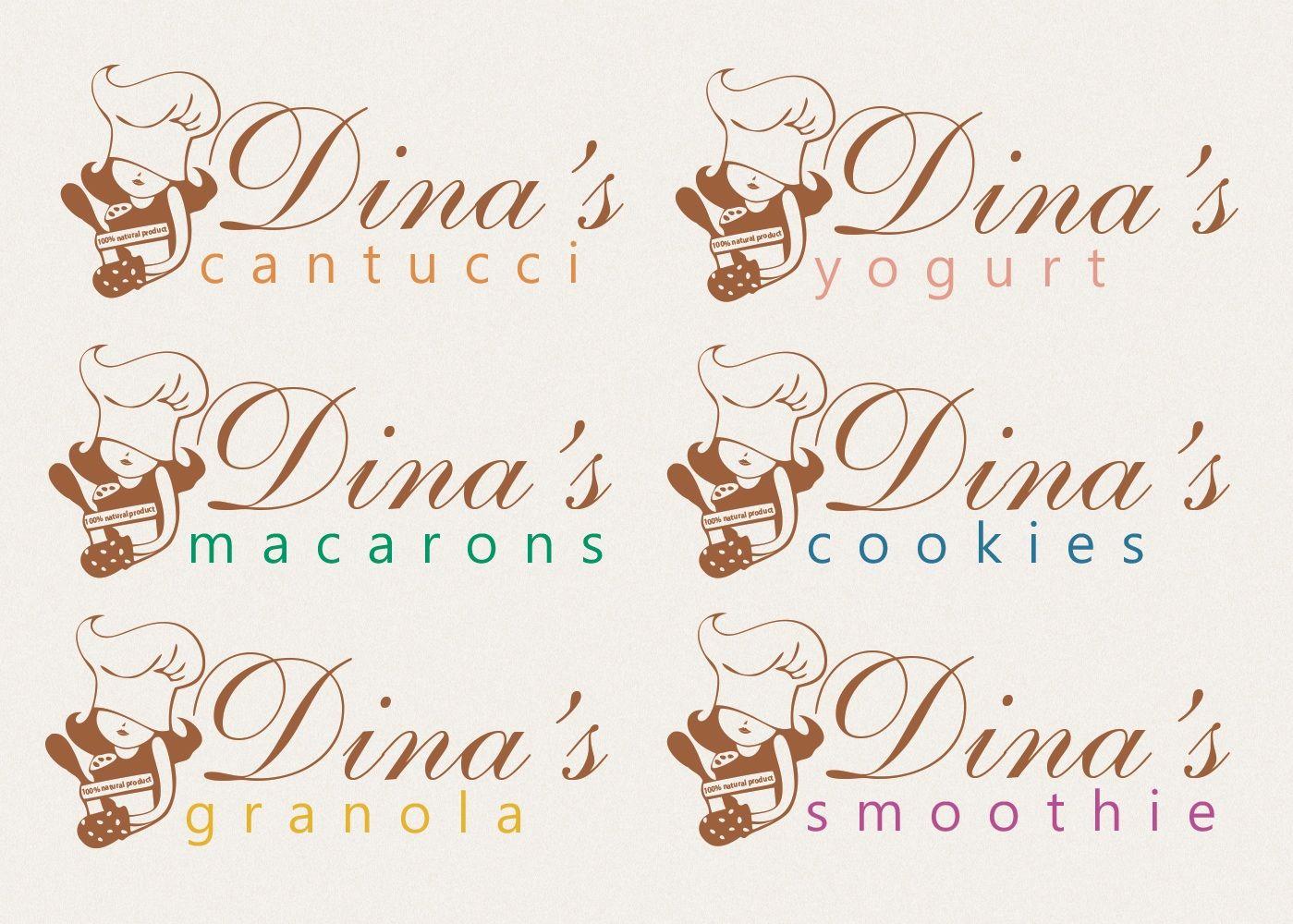 Лого для кондитерских изделий DINA's - дизайнер maximstinson