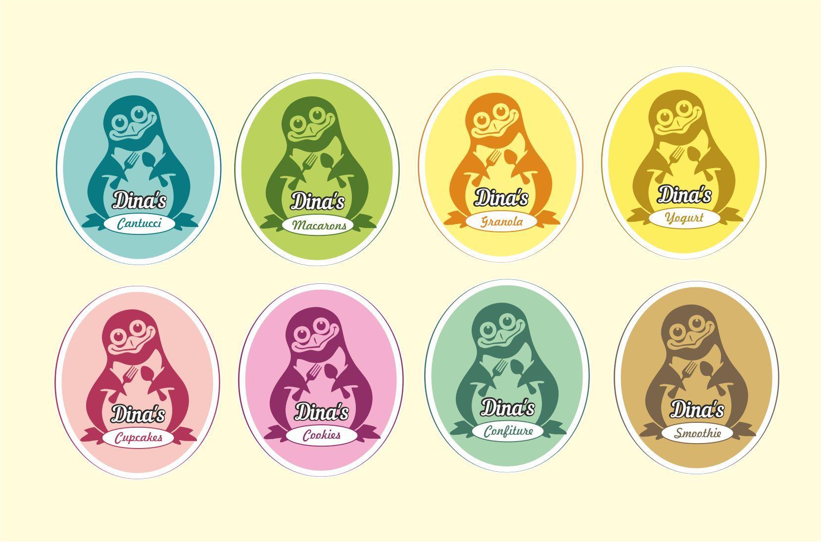 Лого для кондитерских изделий DINA's - дизайнер Iguana