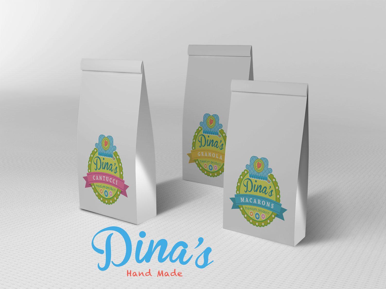 Лого для кондитерских изделий DINA's - дизайнер Knock-knock