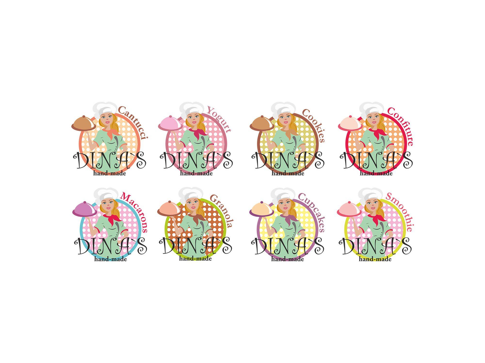 Лого для кондитерских изделий DINA's - дизайнер Dobromira