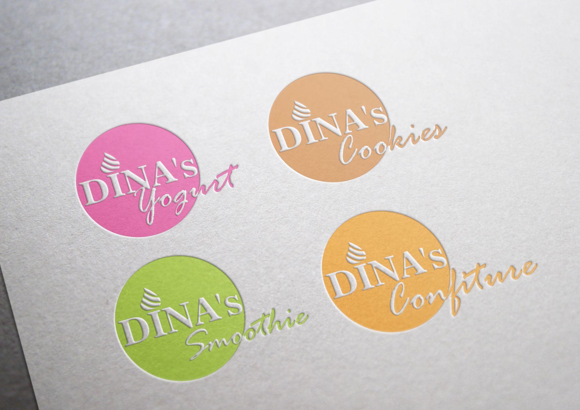 Лого для кондитерских изделий DINA's - дизайнер MEOW