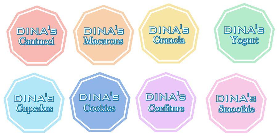 Лого для кондитерских изделий DINA's - дизайнер djei