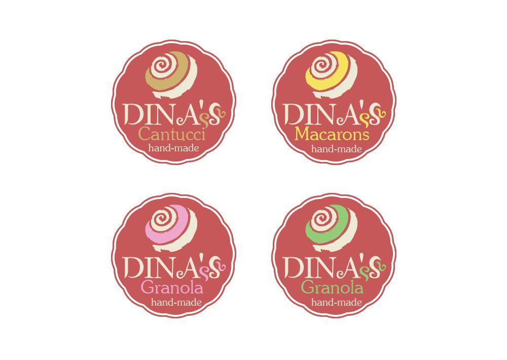 Лого для кондитерских изделий DINA's - дизайнер fotogolik