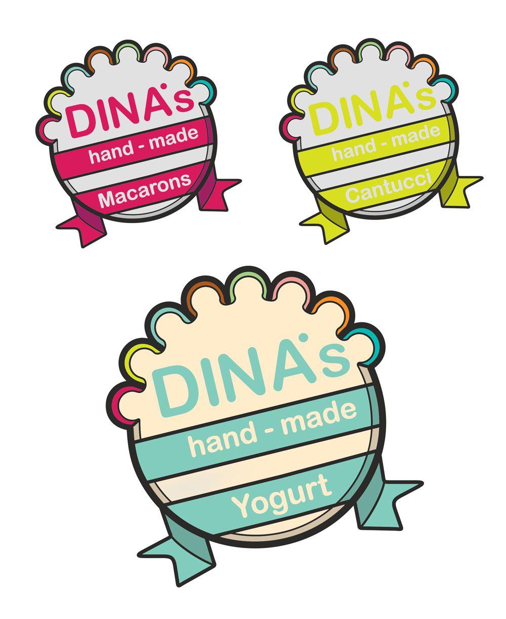 Лого для кондитерских изделий DINA's - дизайнер SonyaShum