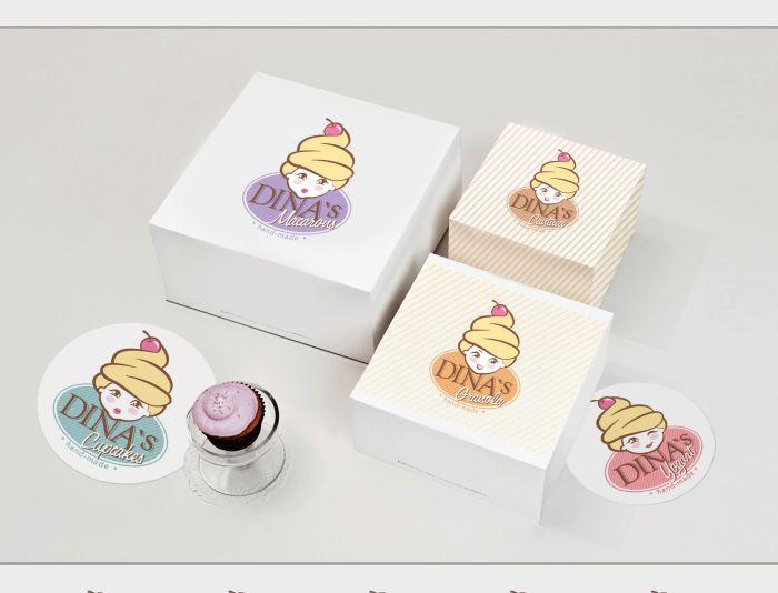 Лого для кондитерских изделий DINA's - дизайнер Ula_Chu