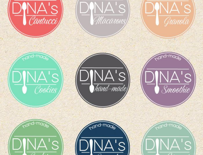 Лого для кондитерских изделий DINA's - дизайнер evamiller
