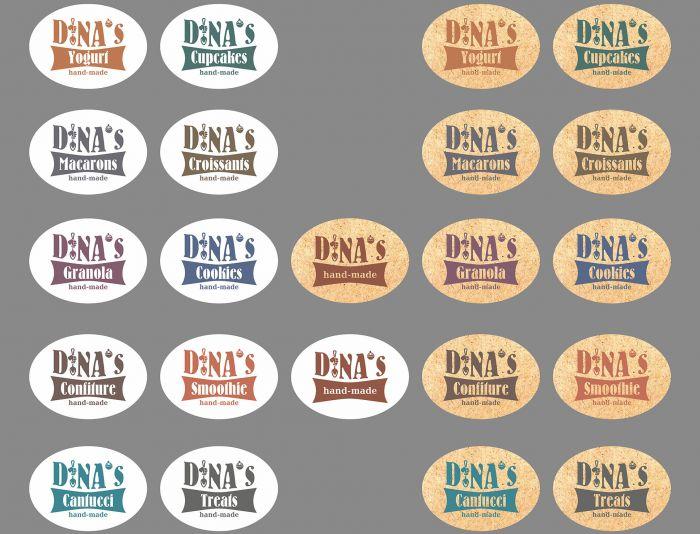Лого для кондитерских изделий DINA's - дизайнер cloudlixo