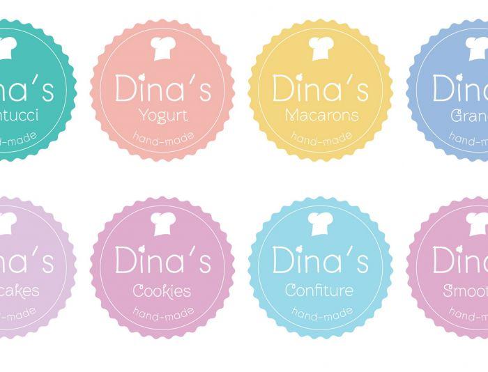 Лого для кондитерских изделий DINA's - дизайнер Korish