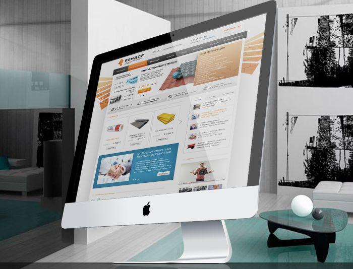 Сайт торговой компании - строительные материалы  - дизайнер Dfly72