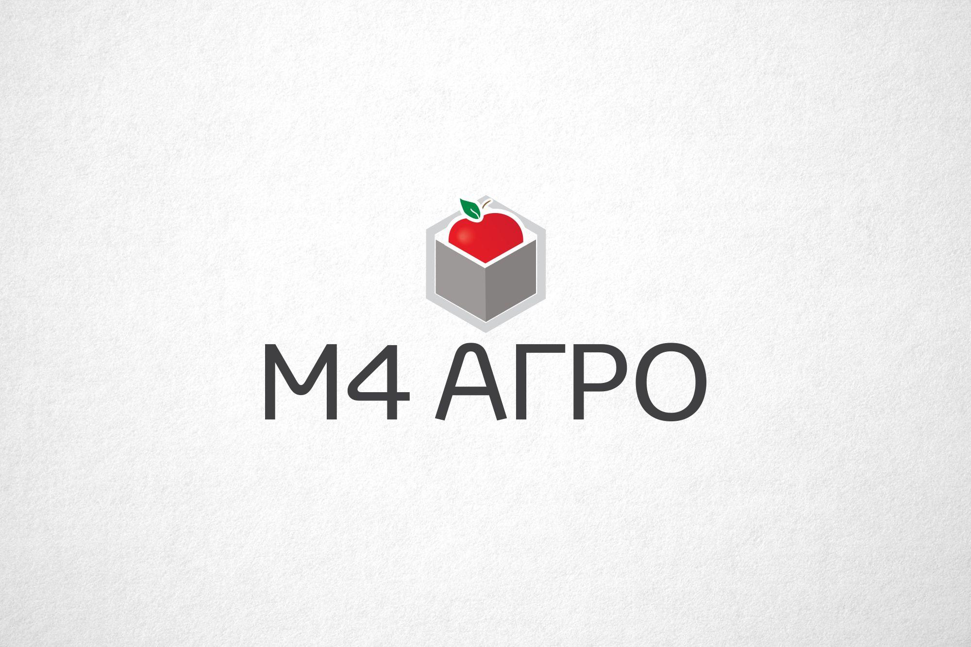 Логотип для M4 АГРО - Российские фрукты - дизайнер funkielevis