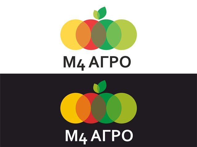 Логотип для M4 АГРО - Российские фрукты - дизайнер smokey
