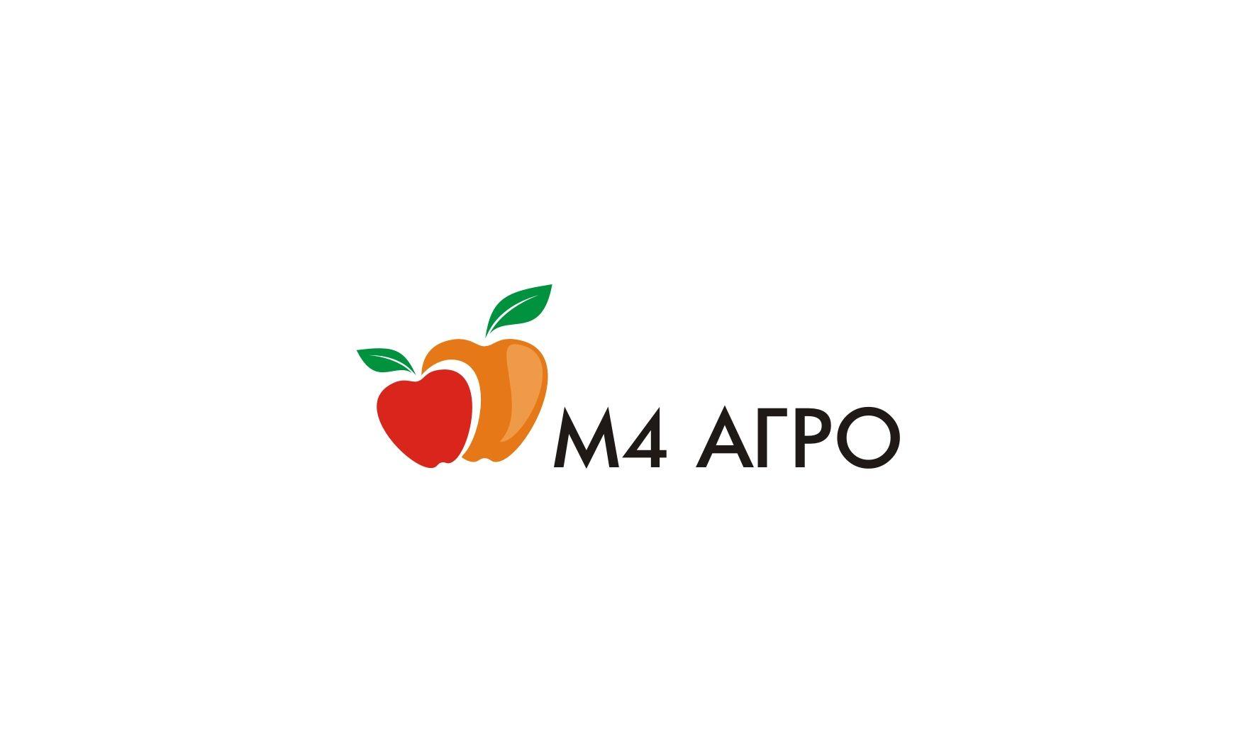 Логотип для M4 АГРО - Российские фрукты - дизайнер Kuraitenno