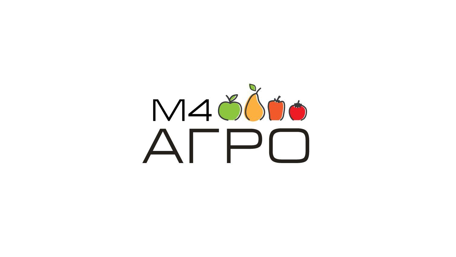 Логотип для M4 АГРО - Российские фрукты - дизайнер peps-65