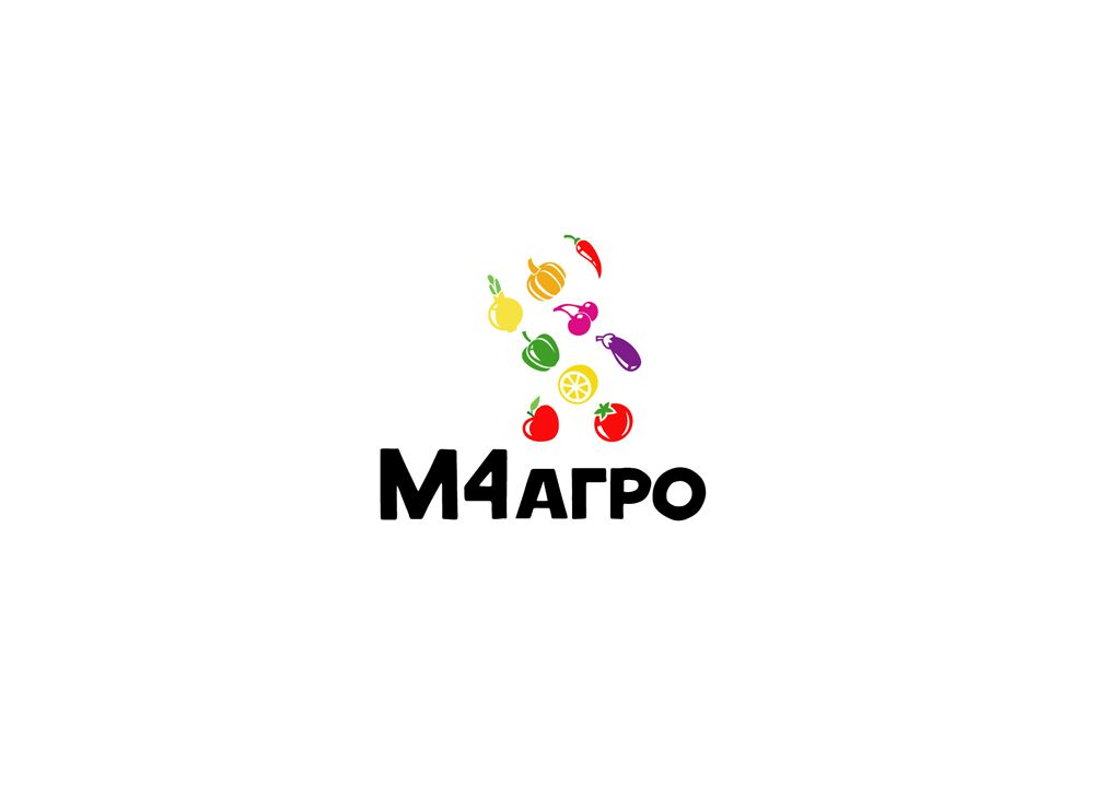 Логотип для M4 АГРО - Российские фрукты - дизайнер jampa