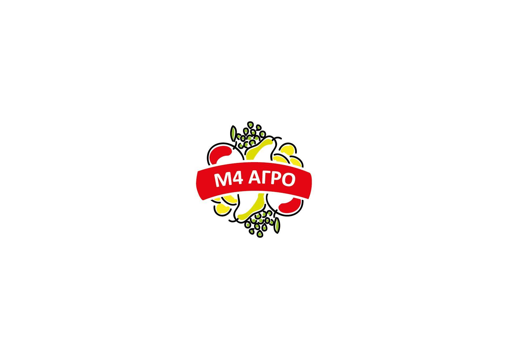 Логотип для M4 АГРО - Российские фрукты - дизайнер LilyLilyLily