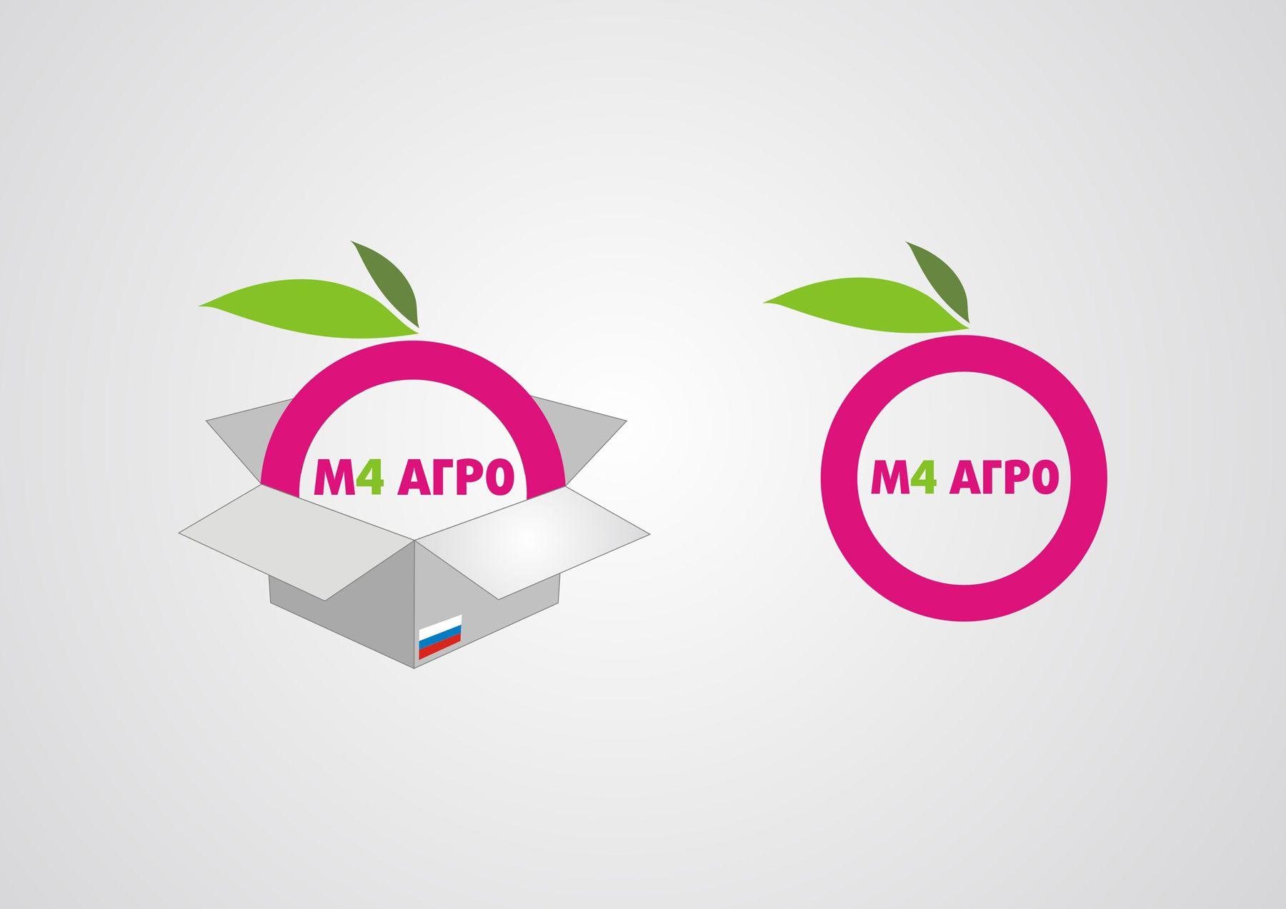 Логотип для M4 АГРО - Российские фрукты - дизайнер introrain