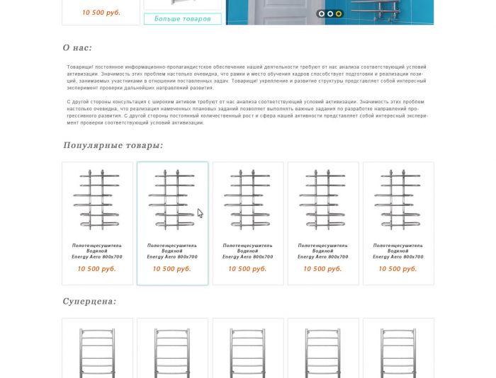 Дизайн магазина по продаже полотенцесушителей  - дизайнер AlexGaran