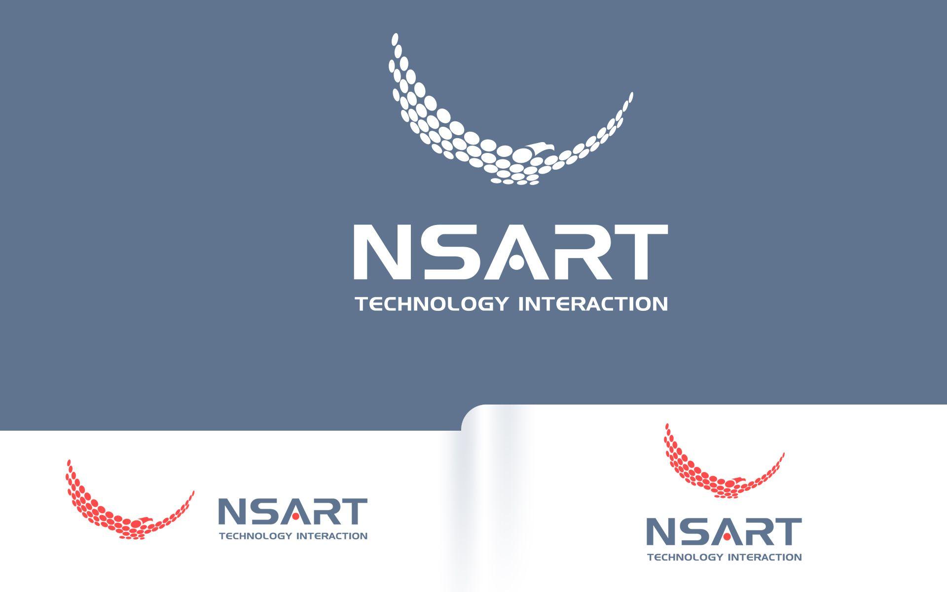 Логотип компании NSART - дизайнер Adrenalinum