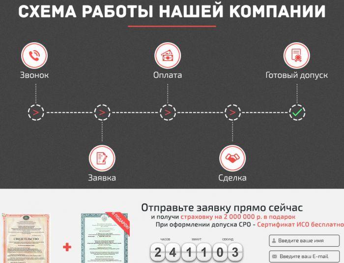 Лендинг «ПроектСтрой-Консалтинг» | СРО - дизайнер HEl1