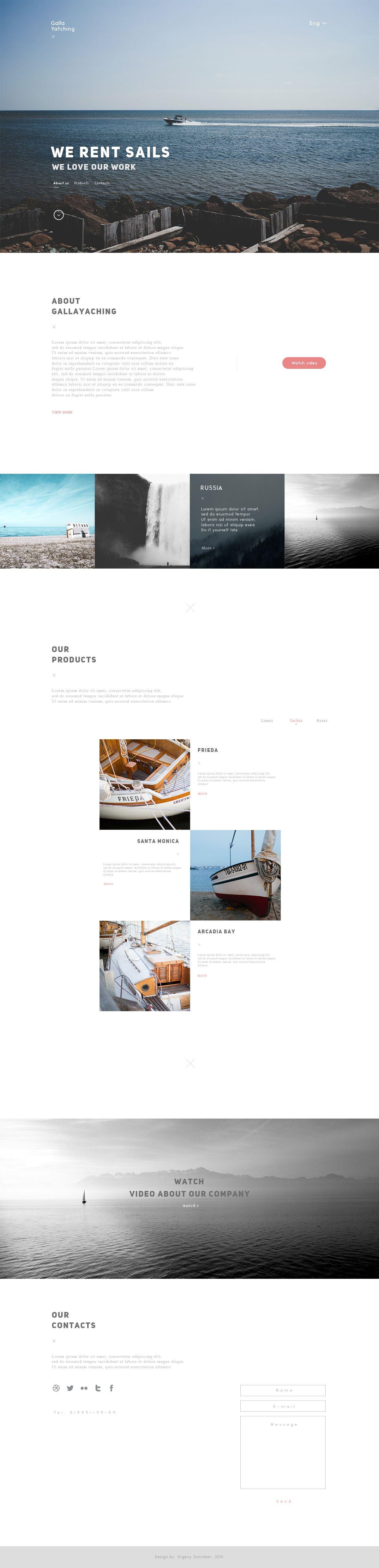 Веб-сайт для gallayachting.com - дизайнер Evangielism