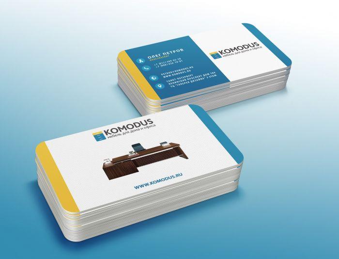 Создание макета визитной карточки - дизайнер sfera