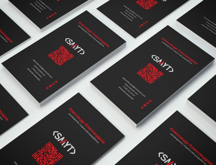 Визитка компании SMYT - дизайнер Alphir