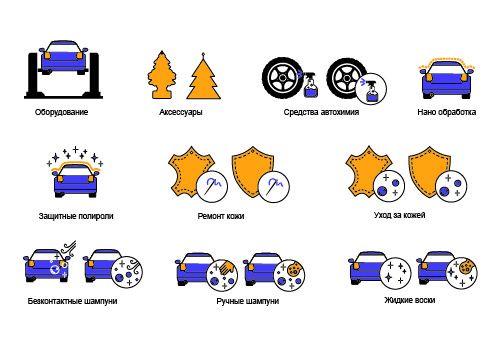 Иконки категорий для сайта автокосметики - дизайнер Anna_Ell