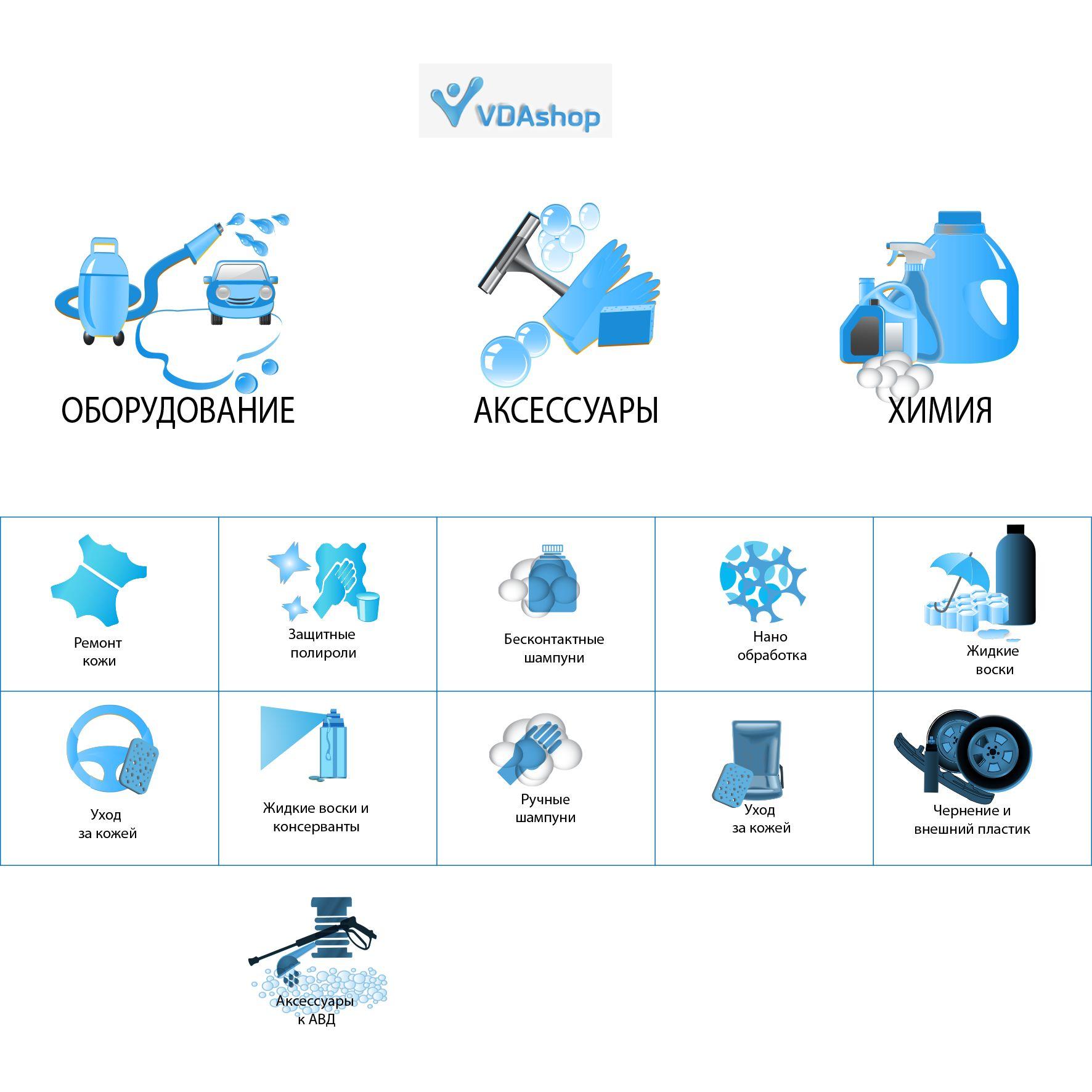 Иконки категорий для сайта автокосметики - дизайнер Garryko