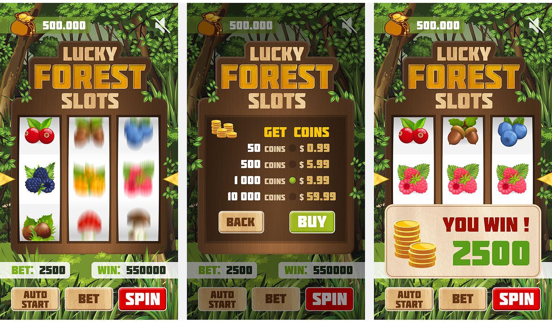 Оформление игрового процесса в игре лесные слоты - дизайнер alex_bond