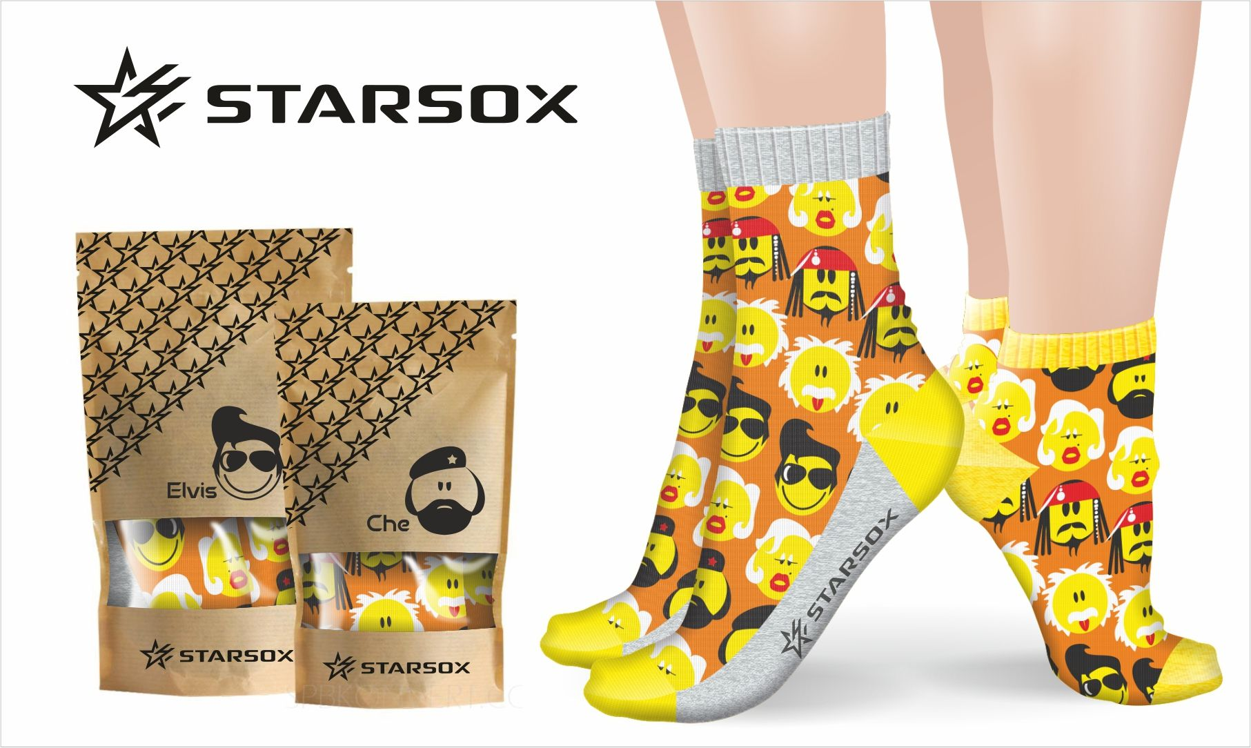Лого и фирменный стиль для Starsox - дизайнер kolchinviktor