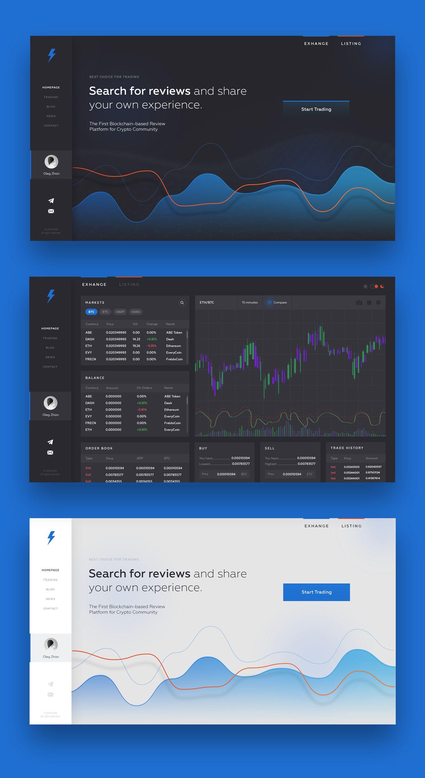 Landing page для Нужен новый крутой дизайн сайта - дизайнер zhituha
