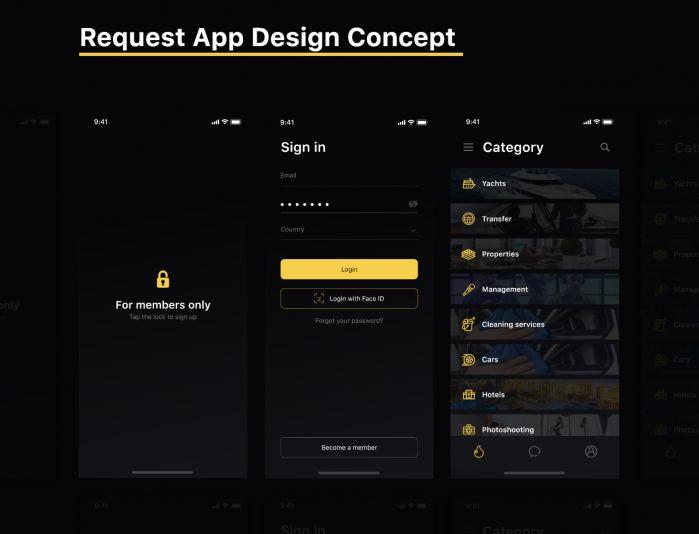 моб приложение консьерж - дизайнер chtozhe