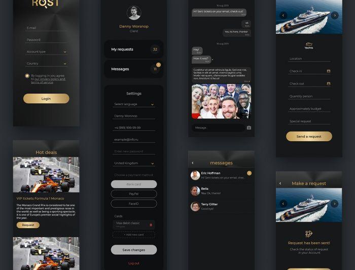 моб приложение консьерж - дизайнер BoomAlive