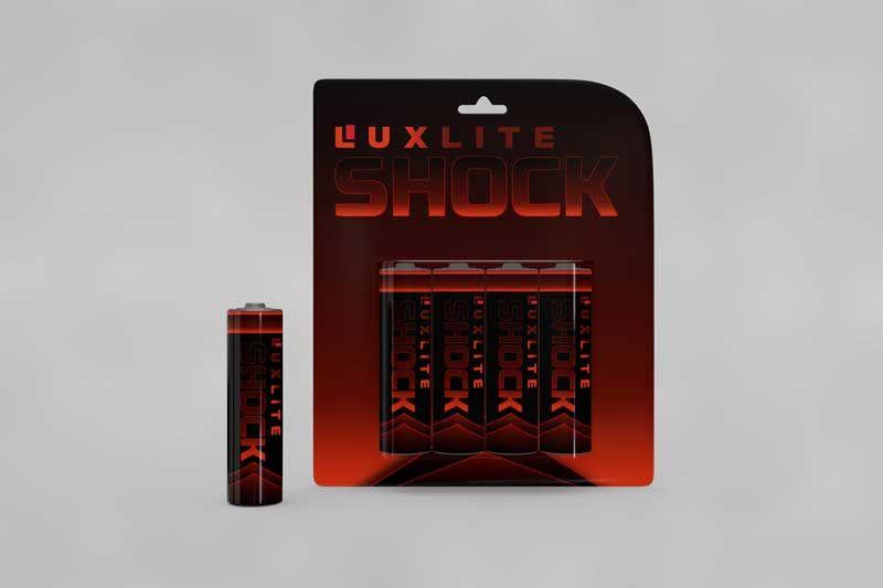 Логотип для батареек LUXLITE SHOCK - дизайнер Agoi