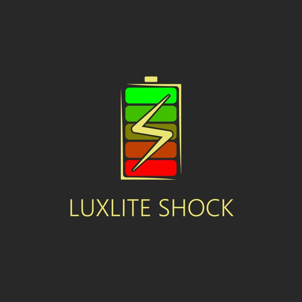 Логотип для батареек LUXLITE SHOCK - дизайнер DMA_works