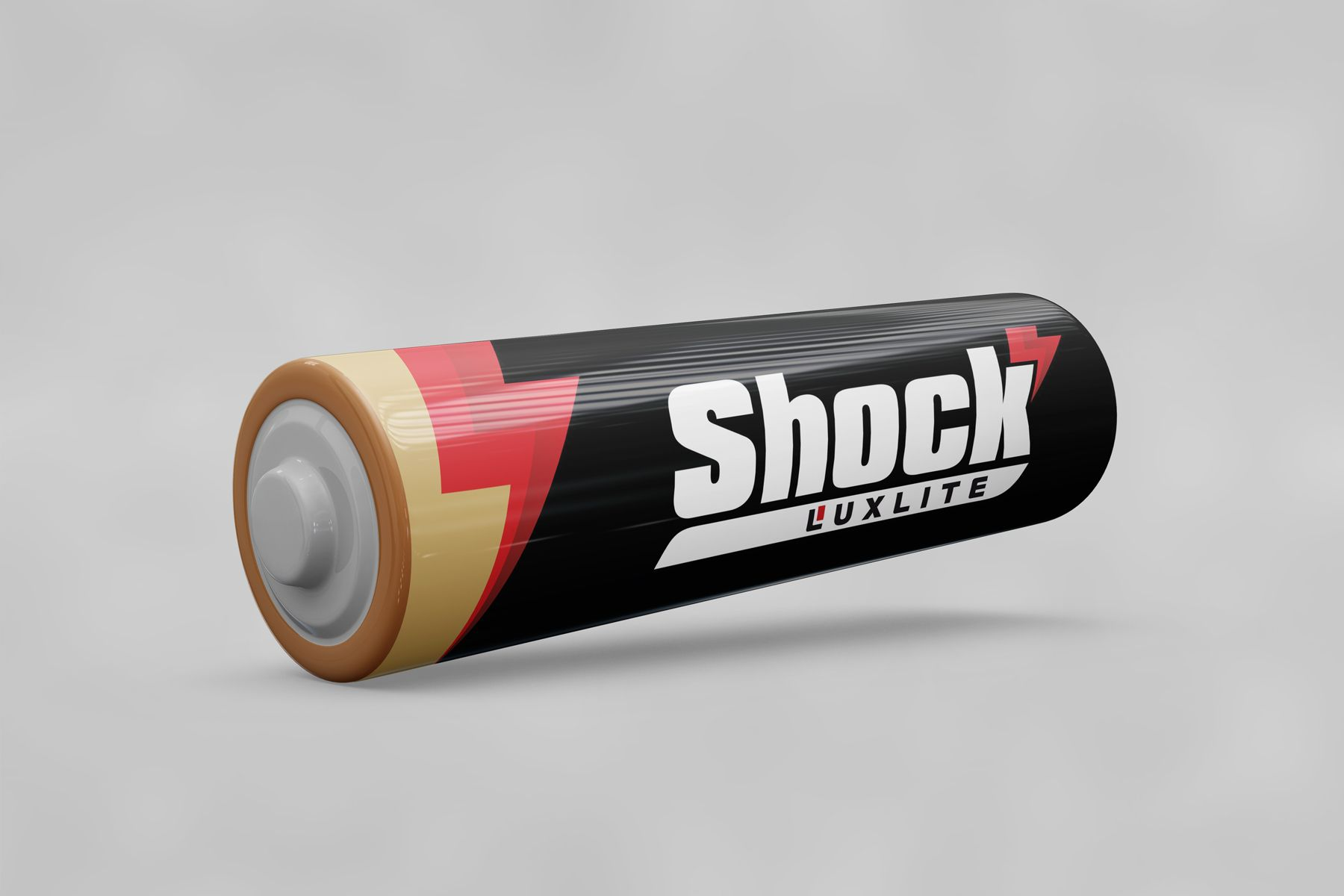 Логотип для батареек LUXLITE SHOCK - дизайнер M_Diz