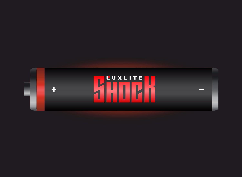 Логотип для батареек LUXLITE SHOCK - дизайнер GAMAIUN