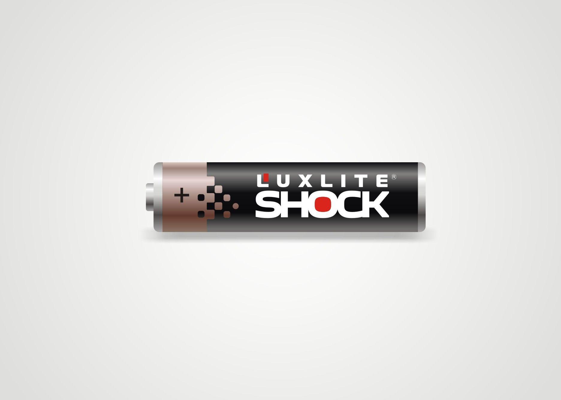 Логотип для батареек LUXLITE SHOCK - дизайнер Zheravin