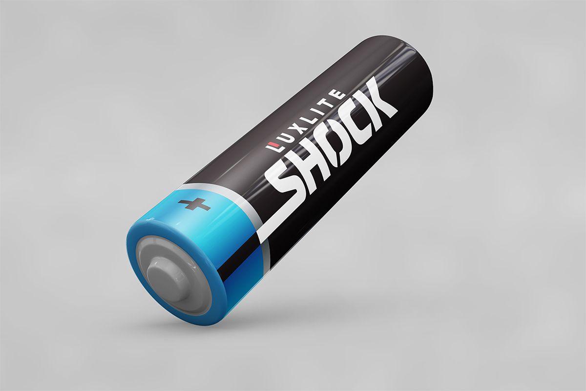 Логотип для батареек LUXLITE SHOCK - дизайнер VF-Group