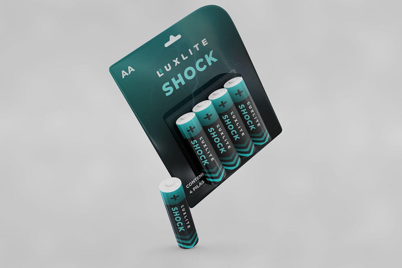 Логотип для батареек LUXLITE SHOCK - дизайнер MashaHai