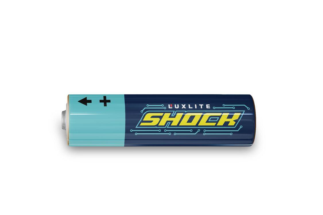 Логотип для батареек LUXLITE SHOCK - дизайнер mar