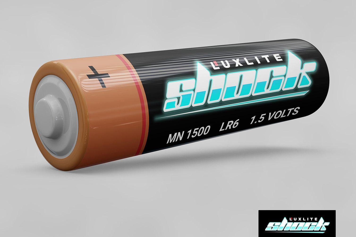 Логотип для батареек LUXLITE SHOCK - дизайнер oio